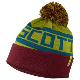 *Scott beanie Team 80 wine red/chatreuse yellow - Hatut - 625-5412-1 - 1