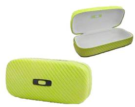 *Oakley Sunglass Case Sq O Hard Neon Yellow - Aurinkolasit - 672-100-270-002 - 1