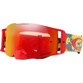 Oakley Goggles Front Line SX Dazzle Dyno Red Yellow w/ Dual Prizm Torch - Ajolasit - 670-7087-25 - 2