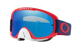 Oakley Goggles O-Frame 2.0 MX Red Navy w/BlkIceIrid&Clr - Ajolasit - 670-7068-26 - 2